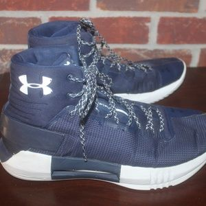 UNDER ARMOUR NAVY BLUE WHITE SNEAKERS MENS 9